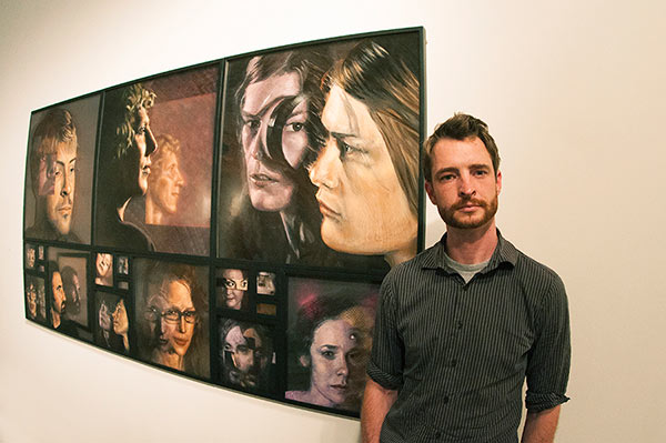 Marcus Pierce Enso Gallery Opening modern art Boise Idaho