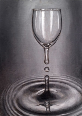 half glass fine art oil painting Marcus Pierce