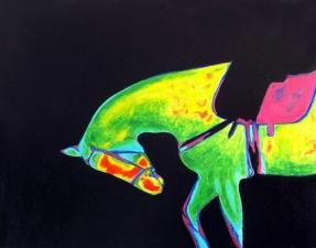 Horse Infrared oil on canvas fine art Marcus Pierce