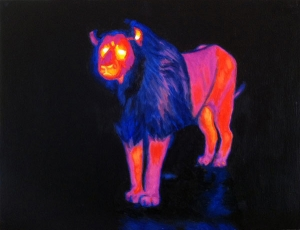 Thermal_Lion_infrared_oil_painting_Marcus_Pierce_art_2